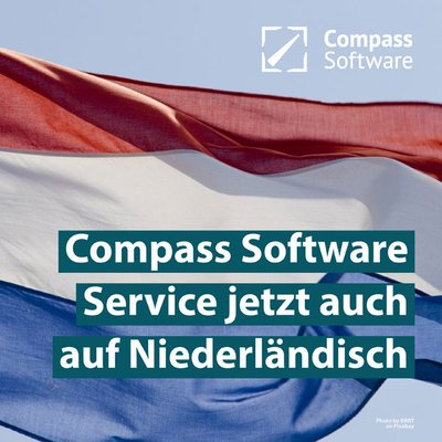 Compass Software now also offers Support in Dutch