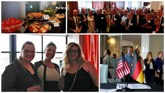 Sales and Marketing Representative Milena Schaefer welcomed this year's new members of the German American Chamber of Commerce of the Southern US in Atlanta.