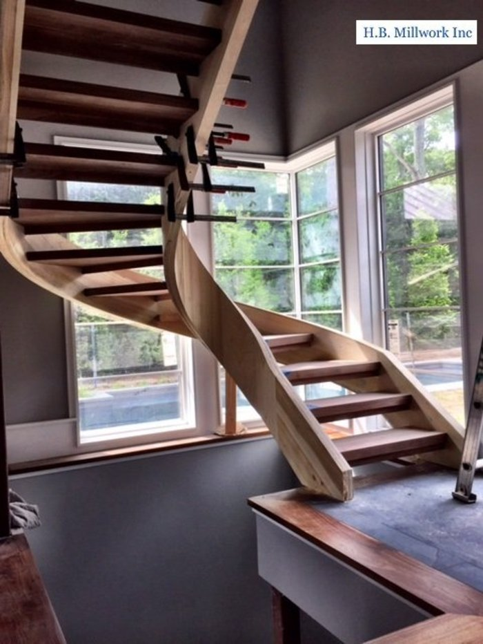 Staircase at H.B. Millwork made with Compass Software