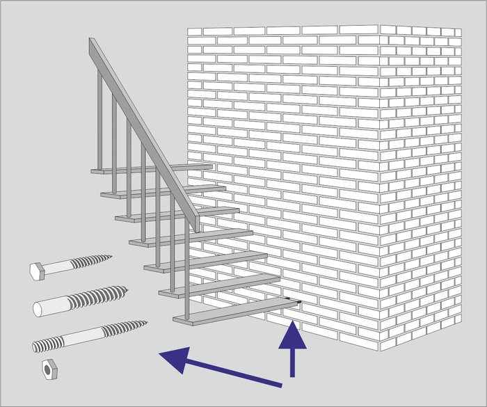 With the new version it is possible to define which bolts are to be matched with what kind of wall material. Using this process, stairbuilders don't have to position the bolts manually anymore, but the bolts change automatically when the properties of the wall are changed in the system.
