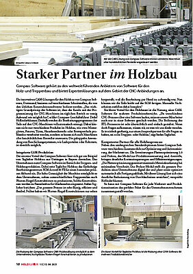 Compass Software Story in the Holzkurier