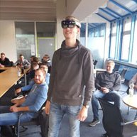 Compass Software Sales Representative Hermann Hasebrink held a presentation in front of approximately 25 students who are enrolled in a wood technician program at the Technical College in Beckum, Germany.