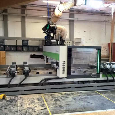 Our service recently connected a second CNC machine with Compass Software at the Carpentry Eugen Schramm in Germany.