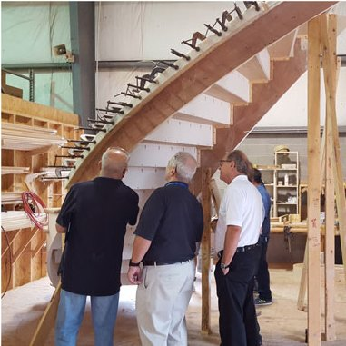 Compass Software technician Steven attended the Loudoun Stairs workshop tour at their premises in Purcellville, VA in September.