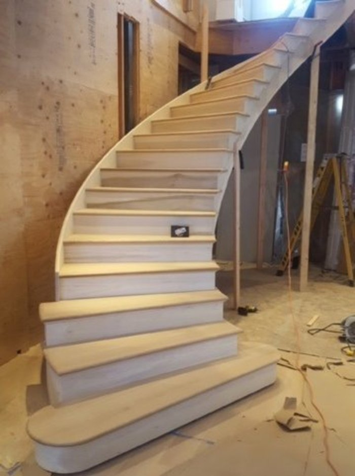 H.B. Millwork staircase drawn with Compass Software