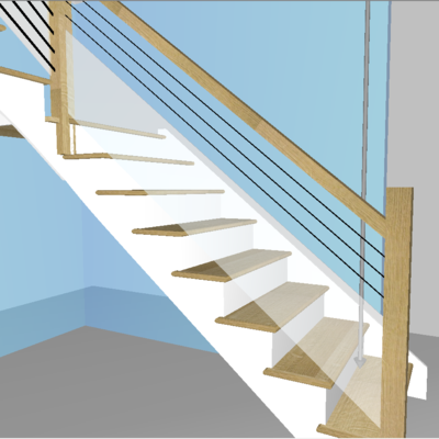 Starting with Compass Software version 10.7.11.0 it is possible to create double infills. These are combinations of ranch railings and glass infills.